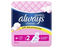 "ALWAYS PODPASKI CLASSIC MAXI SENSITIVE ""2"" 9SZT"